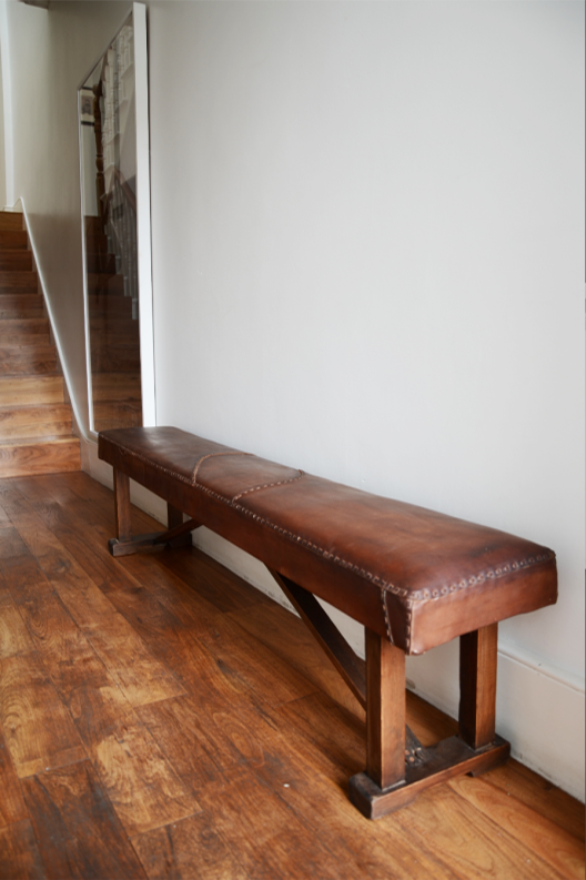 Upholstery Club | Hand Stitched Leather Bench