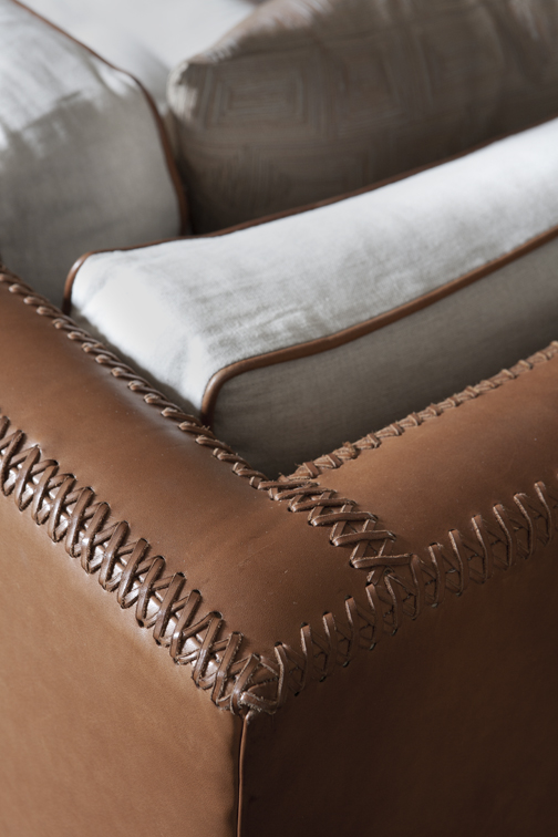 Upholstery Club | Hand Stitched Leather Details
