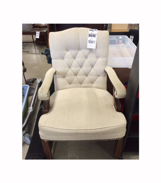 Upholstered chair to reupholster